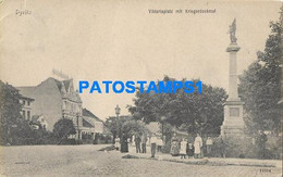 163330 POLAND PYRITZ KRIEGER MONUMENT & PLACE BREAK POSTAL POSTCARD - Poland
