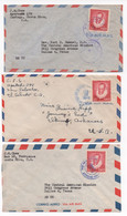 Costa Rica 3 Cervantes Air Mail Covers From The Late 40's #206 - Costa Rica