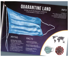 (RR 48) From Canada ? -  COVID-19 Quarantine Land Info Postcard - Myths & Facts - Salute