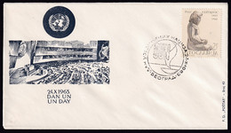 Yugoslavia, 1963-10-24, Serbia, Beograd, Day Of United Nations, Special Postmark And Cover - Other