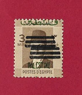 """Egypte - Egypt -Ägypten 1953 VARIETY  With 6 Bars  Overprinted """"PALESTINE""""   MNH - Unused Stamps"""