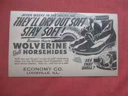 Volverine  Shoe    Economy Co Louisville Ill    Ref  4984 - Advertising