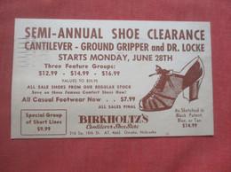 Birkholtz's Shoe Store Omaha Nebraska    Ref  4984 - Advertising