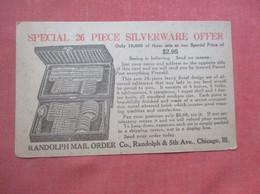 26 Piece Silverware Offer    Randolph Mail Order Chicago Il    Ref  4984 - Advertising
