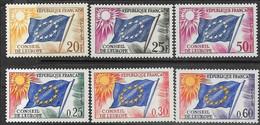 France Council Of Europe 1958-9 Sc#1o3-4, 6 MLH & 1965 1o10-1, 4  MNH  2016 Scott Value $4.45 - Neufs