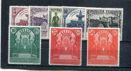 Espagne 1931 Yt 512-519 * - 1931-50 Neufs