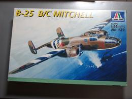 Maquette Plastique - Avion B-25 B/C Mitchell Au 1/72 - Italeri N°123 - Airplanes