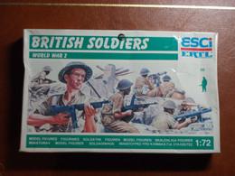 Maquette Plastique - British Soldiers - Soldats Britanniques Au 1/72 - World War II - Esci N°P-200 - Figurines