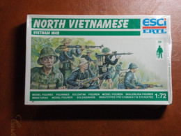 Maquette Plastique - North Vietnamese - Soldats Nord-Vietnam Au 1/72 - Guerre Du Viet-Nâm - Esci N°P-229 - Figurines