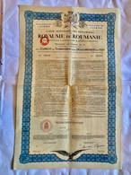 Caisse  Autonome  Des Monopoles  Du ROYAUME  De  ROUMANIE --------Obligation  De 100$  7 % - Unclassified