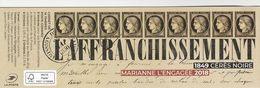 FRANCE 2019 CARNET MARIANE L ENGAGEE 2018 - 1849 CERES NOIRE - L AFFRANCHISSEMENT NEUF NON PLIE YT 1526 - Commemorrativi
