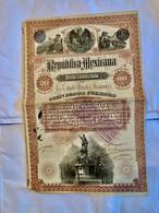 RÉPÚBLICA  MEXICANA  DEUDA  CONSOLIDADA  --------- Obligation  De  100 $ - Non Classificati