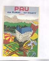 CPM  REPRODUCTION CHROMOLITOGRAPHIE  PAR REBEM, ,  AFICHE PAU - Advertising