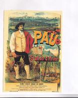CPM  REPRODUCTION CHROMOLITOGRAPHIE   , ,  AFICHE PAU - Advertising