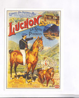CPM  REPRODUCTION AFFICHE CHROMOLITOGRAPHIE     LUCHON - Advertising