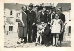 LA FERTE BERNARD PLACE LEDRU ROLLIN ESTAMINET ET HOTEL DU CHAPEAU ROUGE PHOTO 8.50 X 6 CM - Luoghi