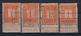 PELLENS Cijfer Nr. 108 Voorafgestempeld Nr. 2158 A + B + C + D  LEUVEN  1913  LOUVAIN  ; Staat Zie Scan ! - Rolstempels 1910-19