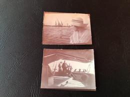 2 X Photo - 1912 - EGYPTE Voyage En Bateau - Boats