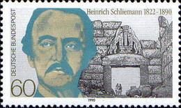 RFA Poste N** Yv:1312 Mi 1480 Heinrich Schliemann Porte Des Lions Mycène (Thème) - Archeologie