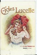 """CARTE FANTAISIE - PUBLICITE """"CYCLES LUCETTE """" - Advertising"""