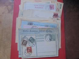 DEUTSCHES REICH BEAU LOT 55 DOCUMENTS DONT OBLITERATIONS INTERESSANTES. PETIT PRIX-A SAISIR !!! - Stamped Stationery