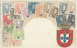 Représentation Timbre - Timbres - Carte Gaufrée - Portugal - Armoiries Blason - Union Postale Universelle - Stamps (pictures)