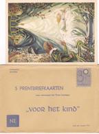 """5 Prentbriefkaarten """"voor Het Kind"""" Van Frans Lammers - Verzamelingen & Reeksen"""