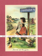 *  CPM..Germaine BOURET : Les Oies Sont Bien Gardées ... - Bouret, Germaine