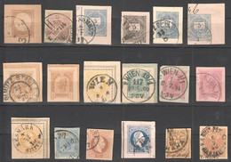 YY718 AUSTRIA COLLECTION OF OLD USED POSTCARD PRINTED STAMPS 18ST - Used Stamps