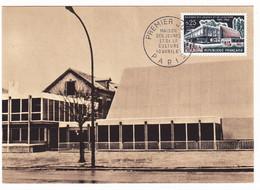 Carte Premier Jour 1965 Troyes Aube Maison Des Jeunes Et De La Culture André Malraux Claude Parent Architecture - Troyes