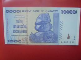ZIMBABWE 10 BILLION $ Peu Circuler/Neuf (B.23) - Zimbabwe