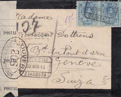 Lettre De' Espagne, Avec Censure - 12 X 9,5 Cms. - Otros