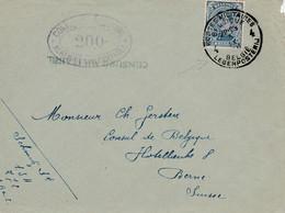 Lettre De Belgique, Avec Censure - Cachet Des Postes Militaires - 14,5 X 11 Cms. - Otros