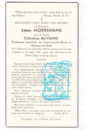DP Prof Koninklijk Muziek Conservatorium Gent - Leon Moeremans ° Ninove 1861 † Gent 1937 X Célestine Buydens - Andachtsbilder