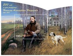 Russia, 2021, N.Nekrasov, Writer, S/s Block Dogs Hunting - Unused Stamps