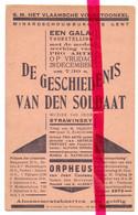 PK - Kleine Affiche Minardschouwburg Gent - Gala Voorstelling - De Geschiedenis Van De Soldaat - 1928 - Advertising
