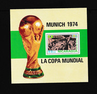 Nicaragua  1974  Soccer World Cup  Football,  West Germany MS - UEFA European Championship