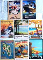 Lot De 8 CPM Publicitaires Des Plages De France: Sables D'Olonne, St Palais Sur Mer, Rochefort, Oleron, Bordeaux ... - Advertising