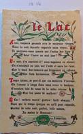 Carte Fiche Style Parchemin, Poème Le Lac , Lamartine, Illustrations Roseaux Nénuphar... - Filosofia & Pensatori