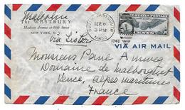 Env. USA South Dartmouth - France 1940 - PA émission 1939 (Trans-Atlantic) - 1c. 1918-1940 Covers