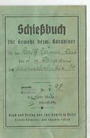 Schießbuch , Carnet De Tir  98 K , WW2 , Panzer- Bataillon 14 . 1936 - 1939-45