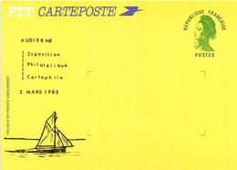 PTT CARTEPOSTE  AUDIERNE  Exposition Philathelique Cartophile 3 Mars 1985 - Audierne