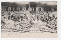 AMÉRIQUE DU NORD - CARTE STÉRÉO - WASHINGTON - LE CAPITOLE - LA SALLE DES REPRESENTANTS - LL. N° 4 - Estereoscópicas