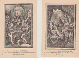 ILLUSTRATIONS  DE  Charles  EISEN POUR  LES  CONTES  DE  LA  FONTAINE- 2  CPA  (21  6 / 191  ) - Fiabe, Racconti Popolari & Leggende