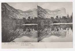 AMÉRIQUE DU NORD - CARTE STÉRÉO - VALLÉE DE YOSEMITE - LE LAC MIROIR - LL. N° 18 - Estereoscópicas