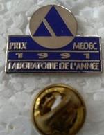 Pin's - Médical - PRIX MEDEC 1991 LABORATOIRE DE L'ANNEE  - - Medici
