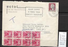 Algerie -EA  - Lettre Taxée à Alger 08/03/1963 - TIMBRES TAXE  SANS EA - NI ANNULATION - Briefe U. Dokumente
