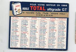 Calendrier 1966 Huile TOTAL (PPP29780) - Tamaño Pequeño : 1961-70