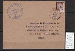 Algerie -EA  - Lettre TICHY - Hexagonal + Kendirou - Sétif -01/1963 - Briefe U. Dokumente