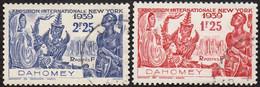 Détail De La Série Exposition Internationale De New York Obl. Dahomey N° 113 Et 114 - 1939 Exposition Internationale De New-York